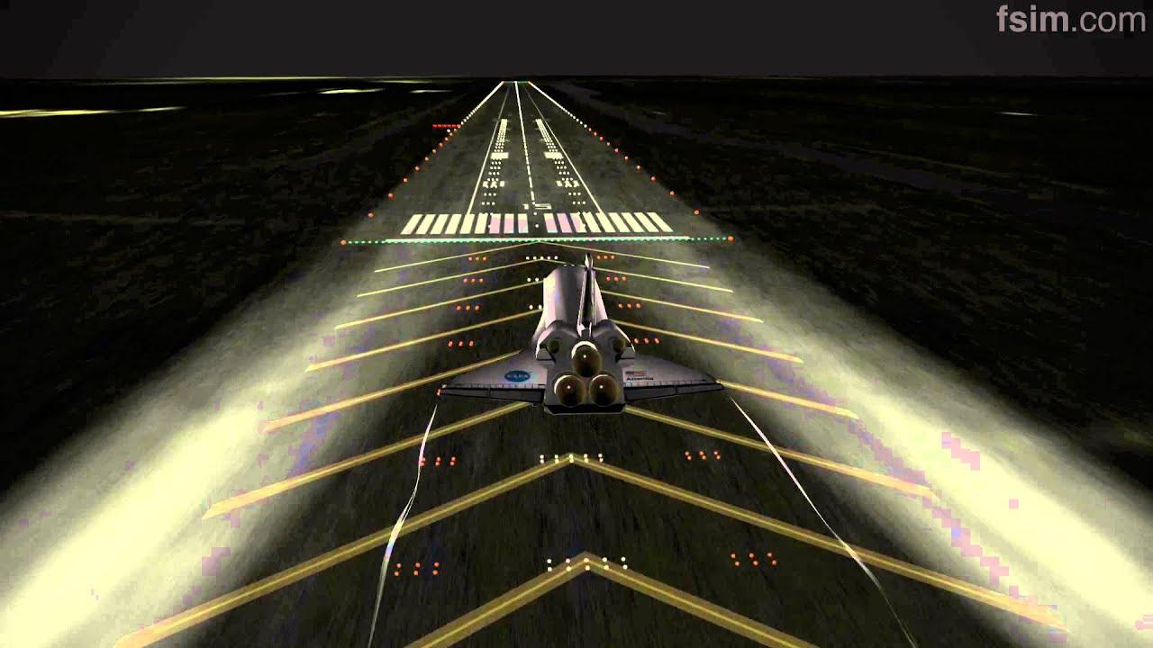 space shuttle landing at night - photo #17