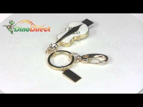 8GB Violin Jewelry USB 2.0 Flash Memory Drive with Key Chain  from Dinodirect.com
