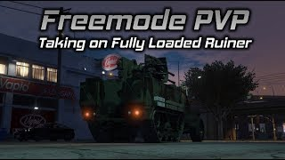 GTA Online Freemode PVP: Taking on a Fully Loaded Ruiner, Half Track vs. Hydra