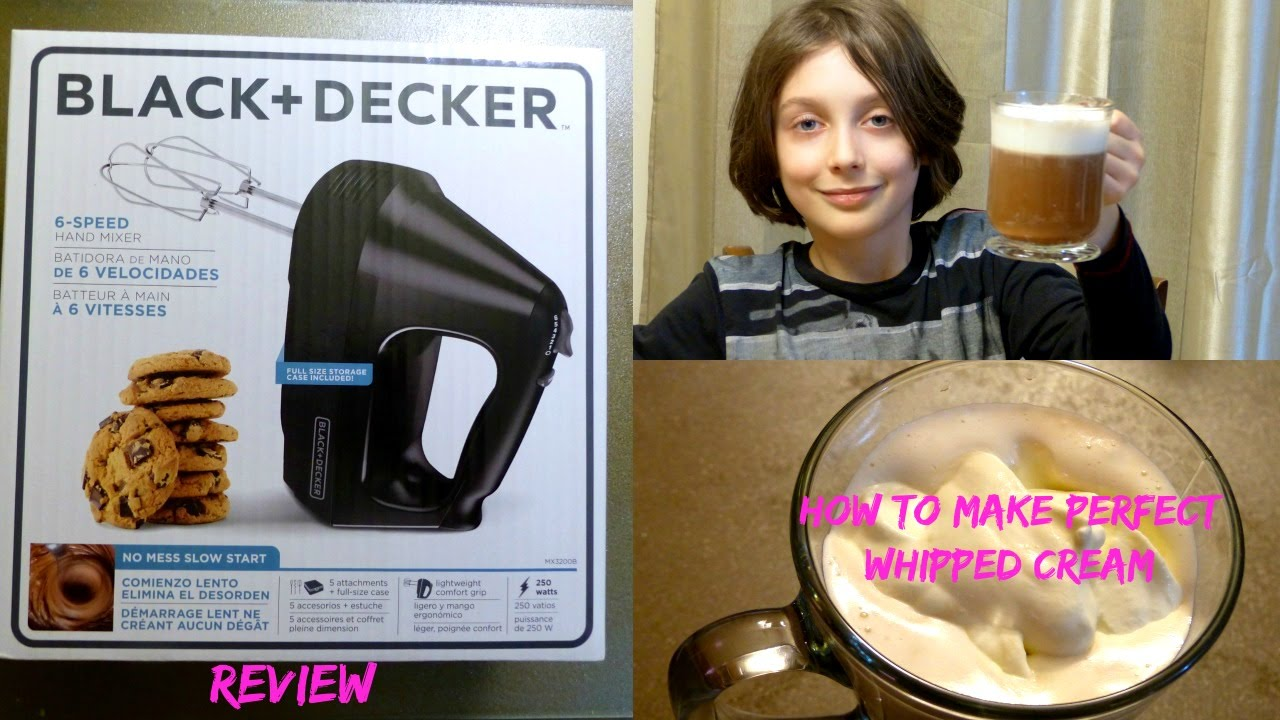 Black Decker 6 Speed Hand Mixer Unboxing And Review Perfect