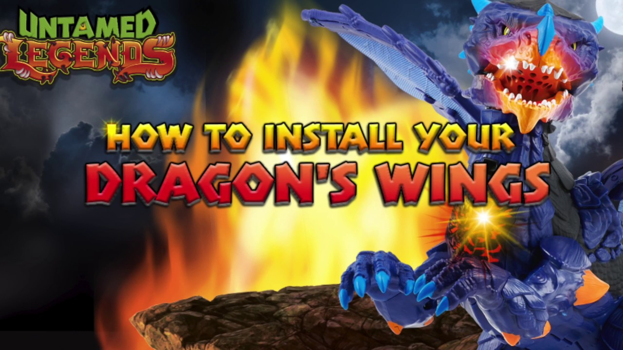 UNTAMED How To Install the Wings On Your Legends Dragon Pet   Instructional Video