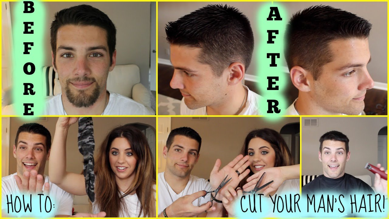 How To Cut Your Man S Hair Featuring My Husband Youtube