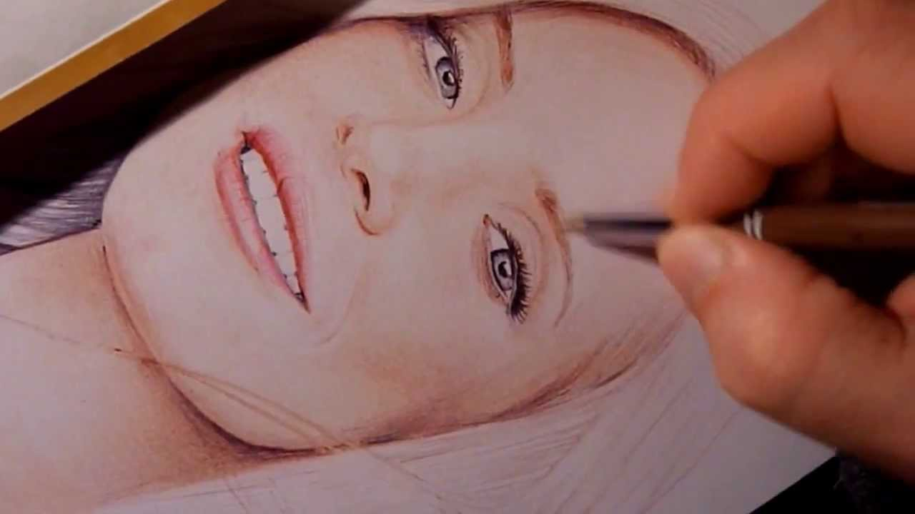 decorate office jessica. Jessica Chastain With Colored Ballpoint Pen By Allan Barbeau Decorate Office