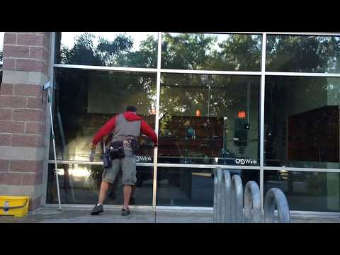Professional window cleaning - First job in the AM