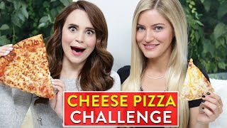CHEESE PIZZA CHALLENGE ft iJustine! thumbnail