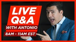 🔴 LIVE Q&A Ask Antonio Anything 🔴 RMRS Coffee & Style FRIDAY Sept 14th @ 8AM EDT US 🔴