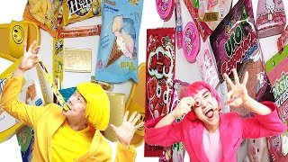 Mukbang 노란색디저트 vs 핑크색디저트 먹방 pi…
