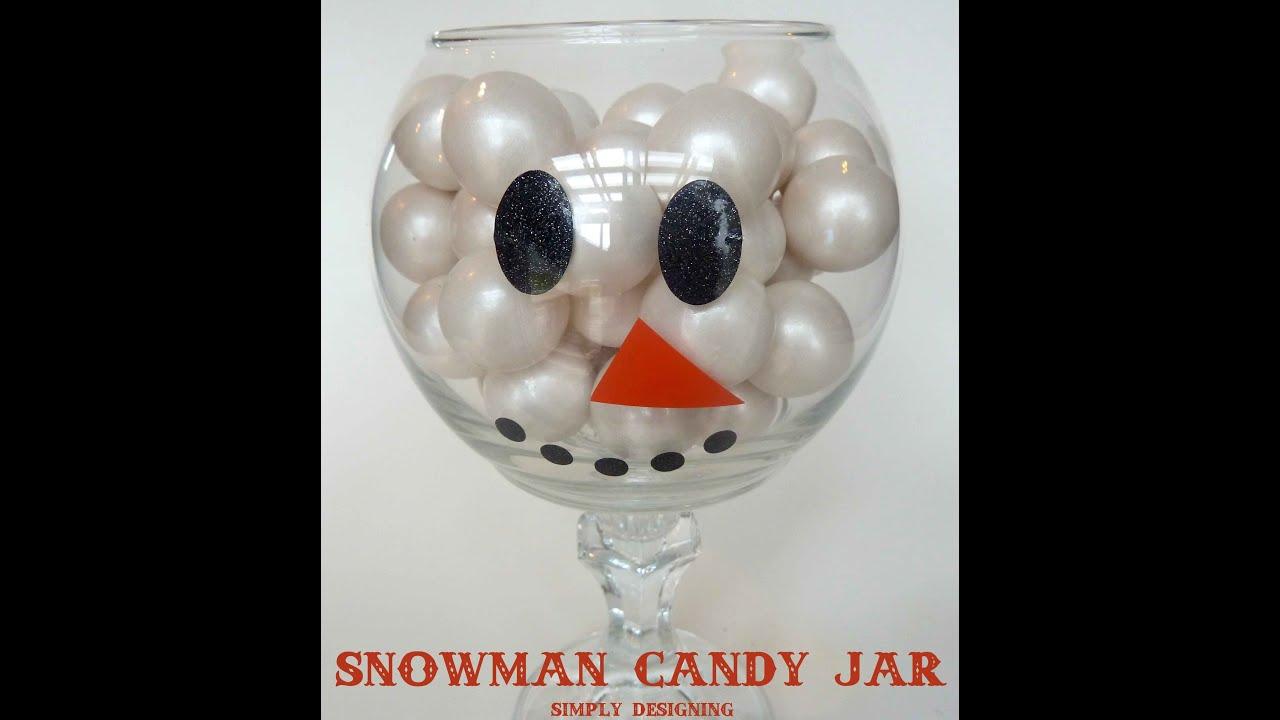 diy snowman candy jar - Christmas Candy Jar Decorations