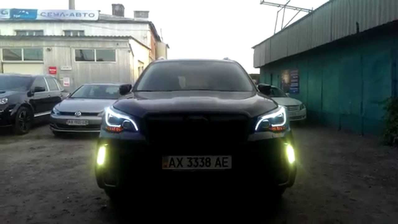 Subaru Forester Sj 2013 Hid Headlights With Drl Youtube