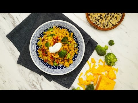 How To Make Cheesy Chicken & Rice, Healthy Chicken And Brown Rice Casserole, Rice Chicken Broccoli