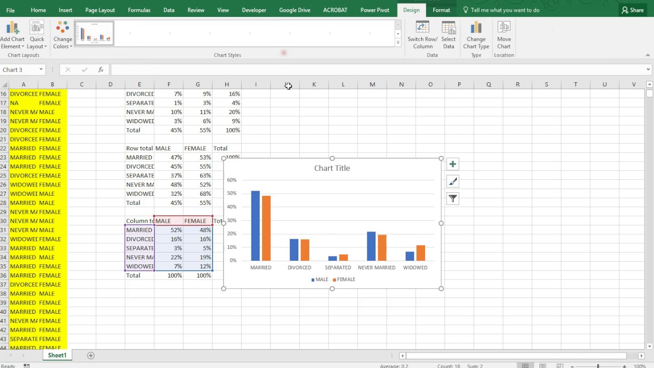 excel clustered bar chart
