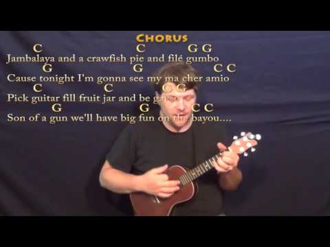 Jambalaya (Hank Williams) Ukulele Cover Lesson in C with Chords/Lyrics - C G
