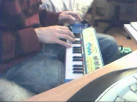 circuit bent blue Argos toy keyboard