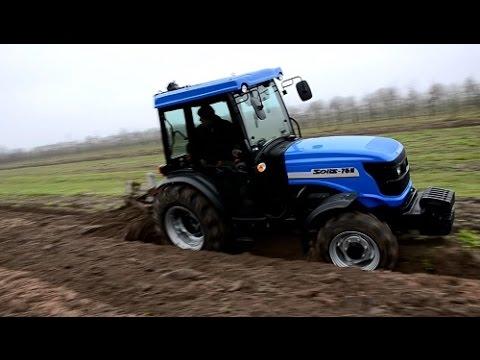 █▬█ █ ▀█▀Ciągnik sadowniczy ~ SOLIS 75 N ~ w pracy z pługiem !