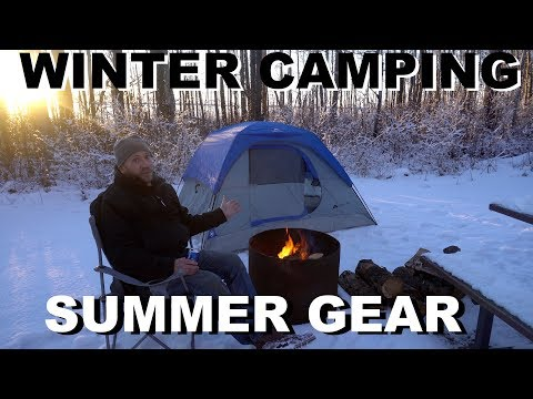 Winter Camping Using Cheap Summer Gear, Is It Possible?