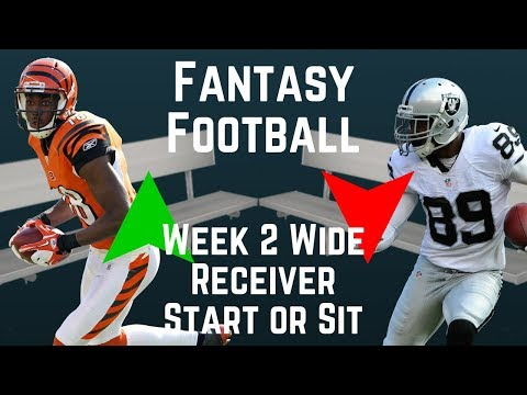 Fantasy Football - Week 2 Wide Receiver Start or Sit