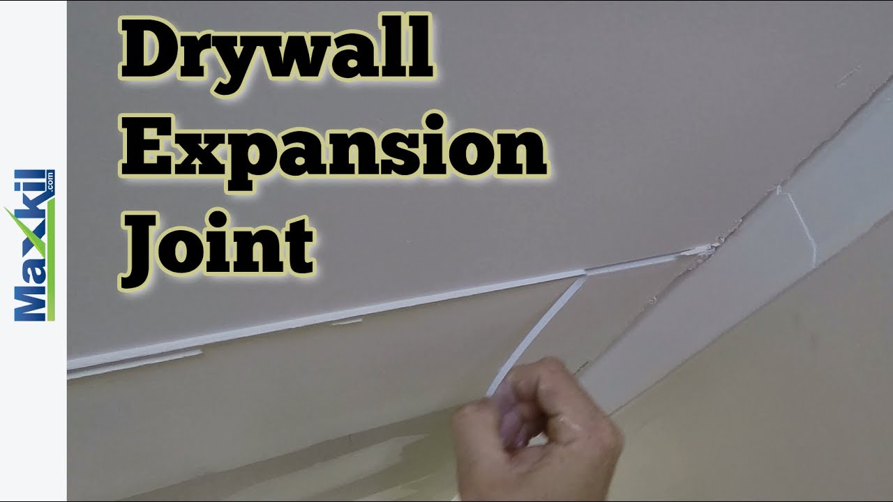 Drywall Expansion Joint - Tear away & sand