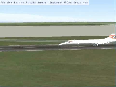 FlightGear Concorde Landing