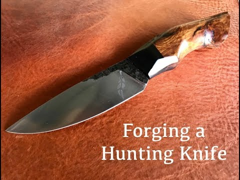 Knifemaking- Forging  a Hunting Knife from a Leaf Spring