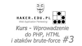 #3 Wprowadzenie HTML, PHP i brute-force  | Kurs Web Application Pentesting