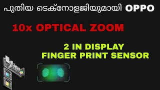 Oppo 10x hybrid optical zoom and new in display technology explained in malayalam