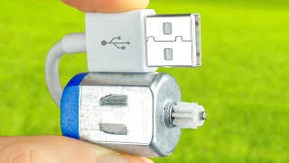 6 AMAZING IDEAS WITH AN ELECTRIC MOTOR