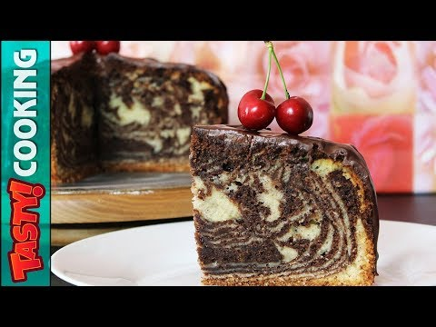 ZEBRA Cake Recipe ???? Marble Sponge Cake ???? Tasty Cooking
