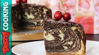 ZEBRA Cake Recipe 🍰 Marble Sponge Cake 🍰 Tasty Cooking