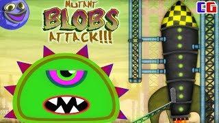 СЛИЗНЯК МУТАНТ УЛЕТЕЛ НА ЛУНУ и СЪЕЛ ВСЕХ КОСМОНАВТОВ в РАКЕТЕ! Мультяшная игра Mutant Blobs Attack