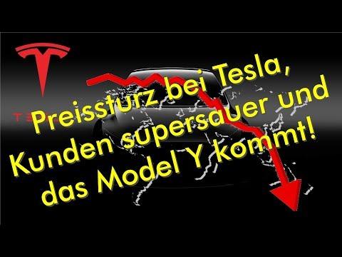 Preissturz bei Tesla, Kunden supersauer und das Model Y kommt!