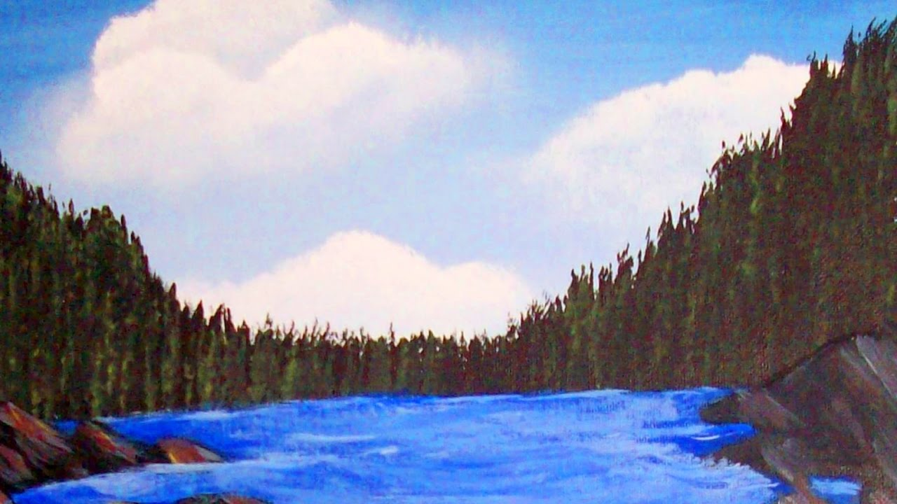 How To Paint Easy Fir Trees With A Fan Brush Acrylic