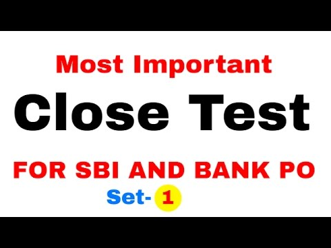 Cloze Test English Tricks for Bank PO | SBI PO | SSC CGL  part 1