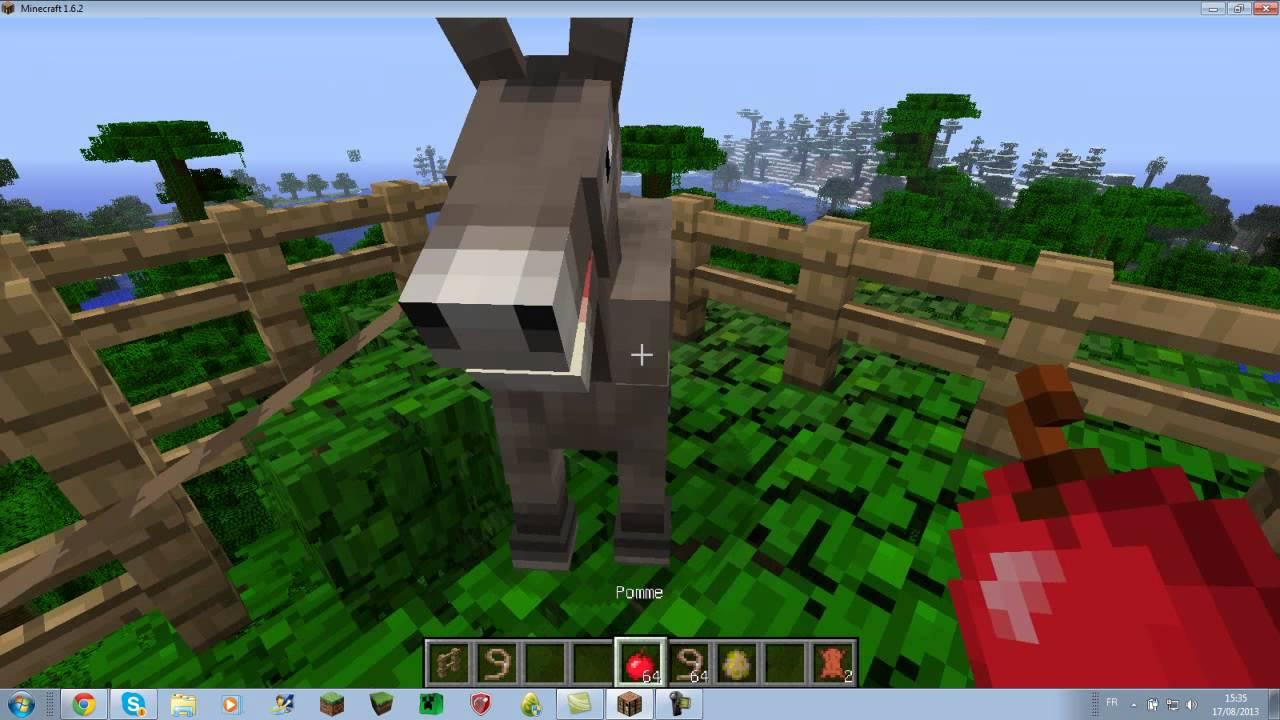 comment mettre un coffre sur un cheval minecraft