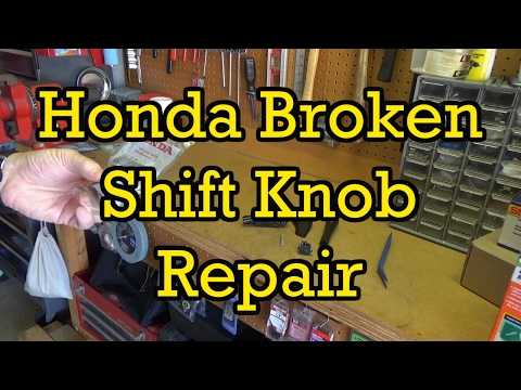 Honda Accord Broken Gear Shift Knob Replacement 2004 (2003-2007 Similar)