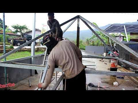 joglo dari baja ringan cara bikin gazebo how to make a versicu2t youtube