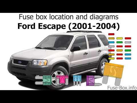 [ZHKZ_3066]  Fuse box location and diagrams: Ford Escape (2001-2004) - YouTube | 03 Ford Escape Fuse Box Lid |  | YouTube