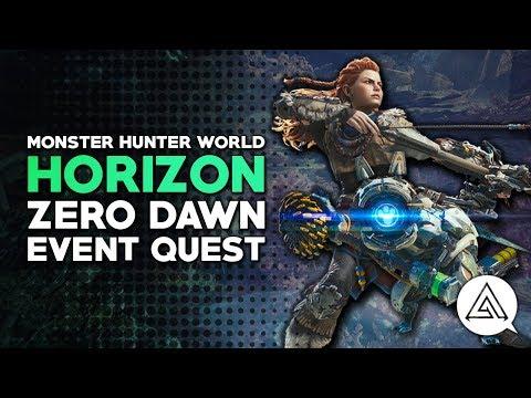 Monster Hunter World | Horizon Zero Dawn Event Quest & Watcher Palico Gear