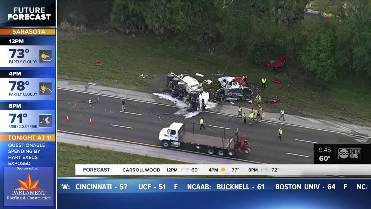Three killed in crash on I-75 in Sarasota