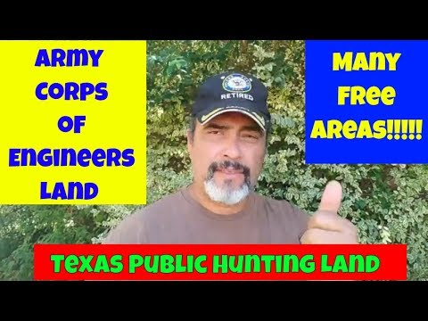 Texas Public Hunting Land: Army Corps Of Engineers Hunting Land