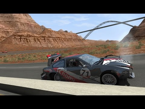 BeamNG.drive -  So-Cal Interstate Highway (115 miles of road & path)