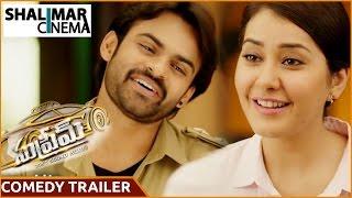 Supreme Movie Comedy Trailer    Sai Dharam Tej, Raashi Khanna    Shalimarcinema