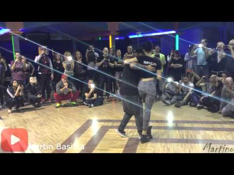 Edo and Denise kizomba dance intermediate @ ROME FUSION 2016