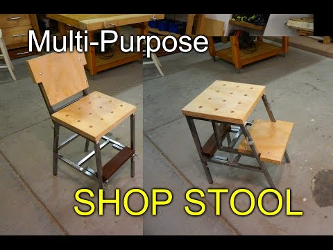 Multipurpose Shop Stool -  aka the Dual Stool