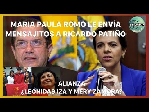 MARIA PAULA ROMO TEXTEA A RICARDO PATIÑO / ALIANZA IZA Y ZAMORA - SIN CORBATA