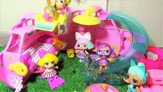 Ляльки ЛОЛ на пікніку. Рятуємо ЛОЛ Гліттер Бібі. Ляльки ЛОЛ мультики.