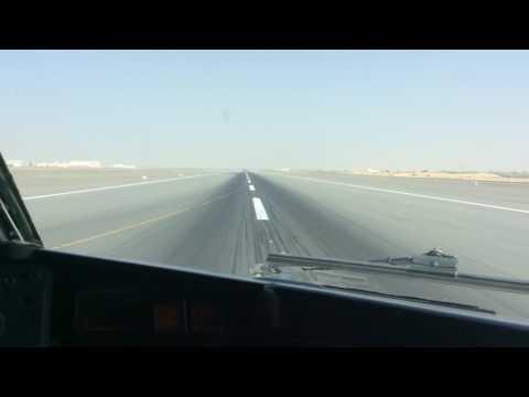 AZMAN airline B737-500 landing Sharjah International Airport