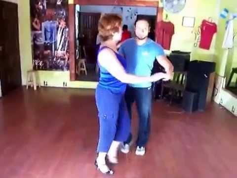 Janet at Antigua Guatemala Salsa Lesson July 2014