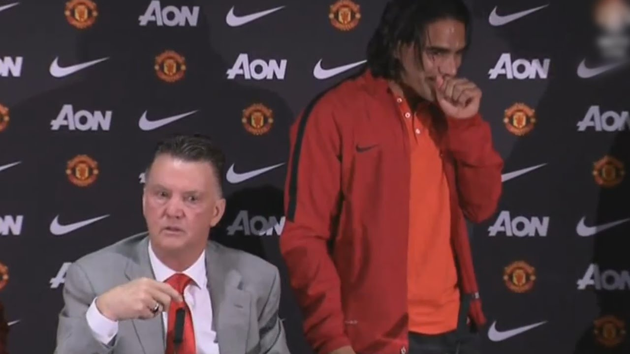 Van Gaal Funny Moment Asking About Falcao's English To The