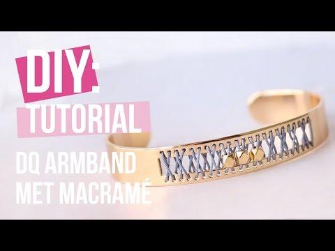 Sieraden maken: Musthave armband van DQ metaal & Macramé draad ♡ DIY