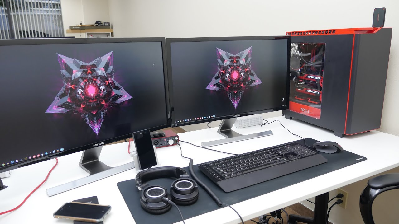 Ed S Epic Desk Setup Tour Jan 2015 Youtube